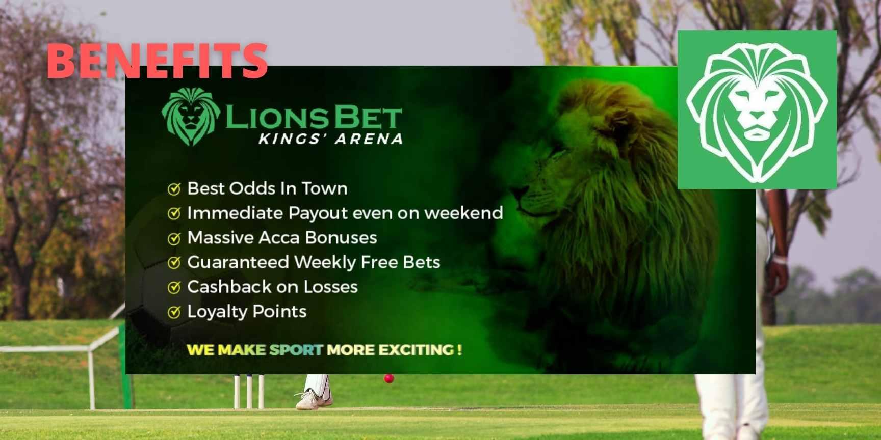 lionsbet benefits