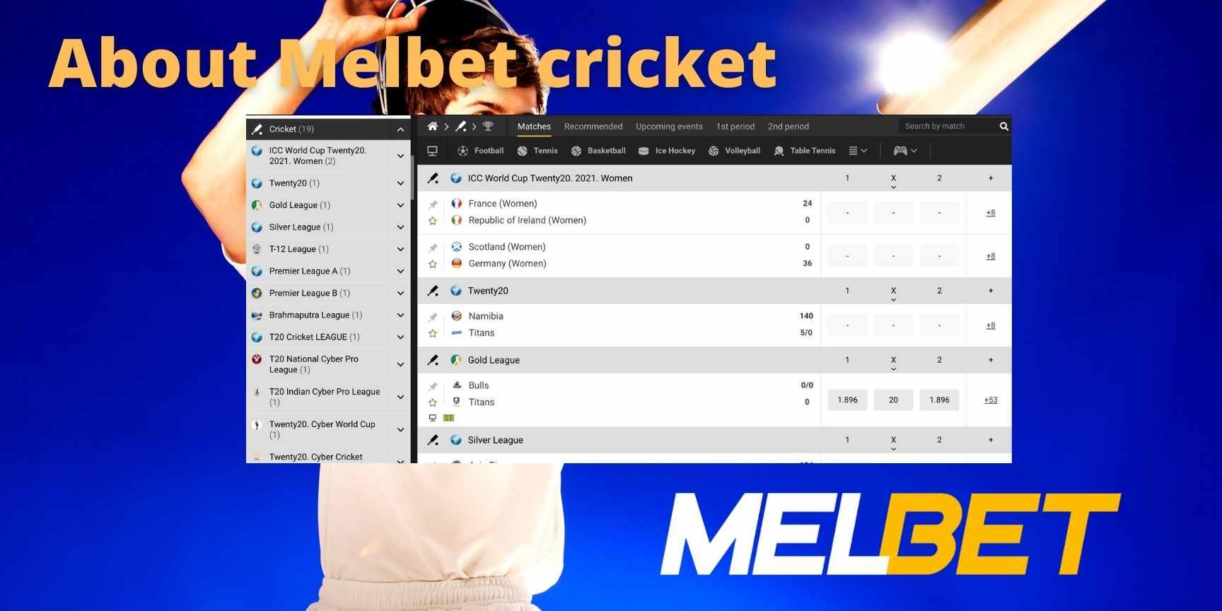 Melbet cricket
